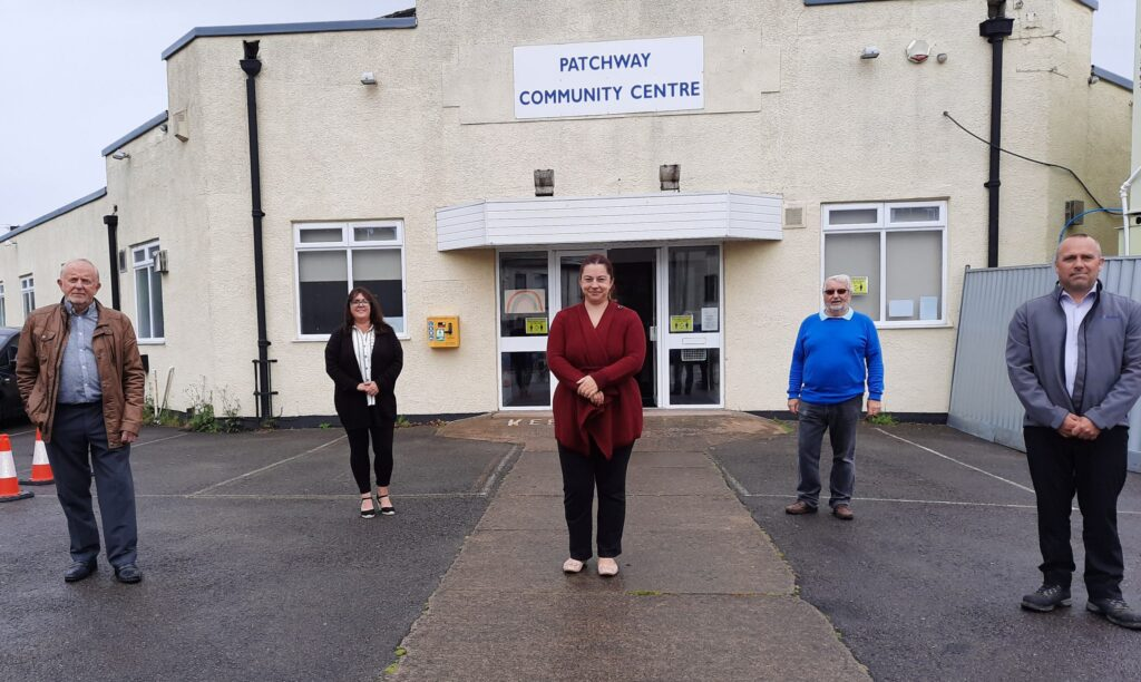 Outside the Patchway Community Centre with Staff and Council Members
